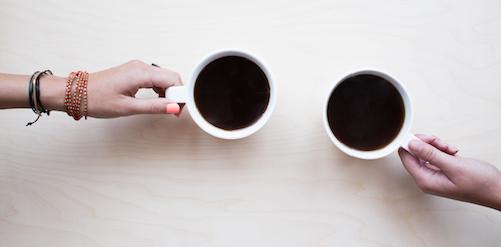 lekker kopje koffie drinken